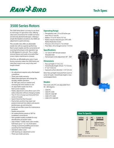 3500 Series Rotors