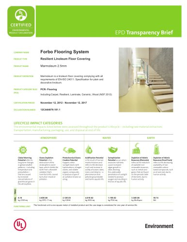 EPD TRANSPARENCY BRIEF MARMOLEUM 2.5MM