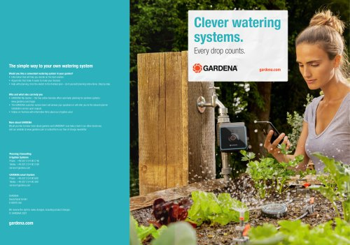 Clever watering systems.