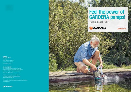Feel the power of GARDENA pumps!