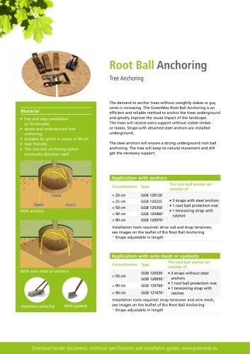 Root Ball Anchoring