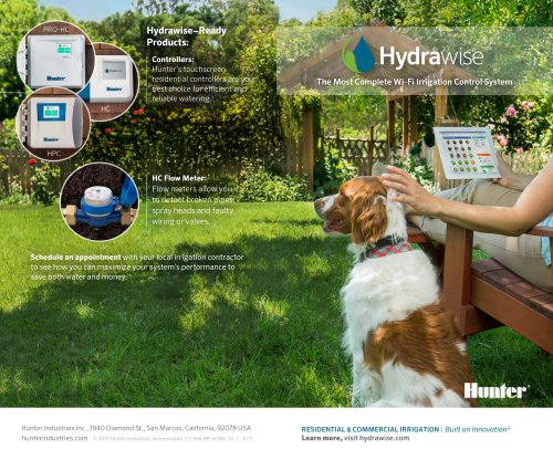 HYDRAWISE CLOUD SOFTWARE