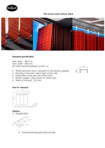 woven wood  blinds range