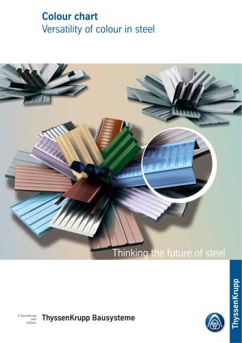 Colour chart :Versatility of colour in steel