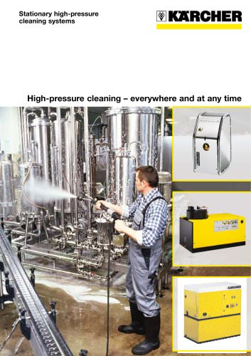 High-pressure cleaning – everywhere and at any time