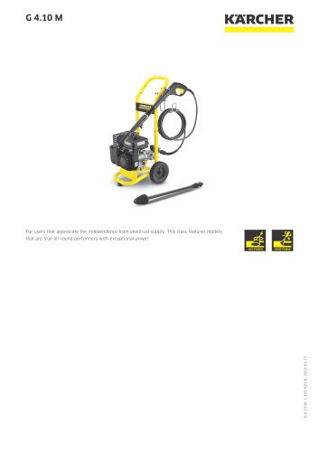 HIGH PRESSURE WASHER G 4.10 M