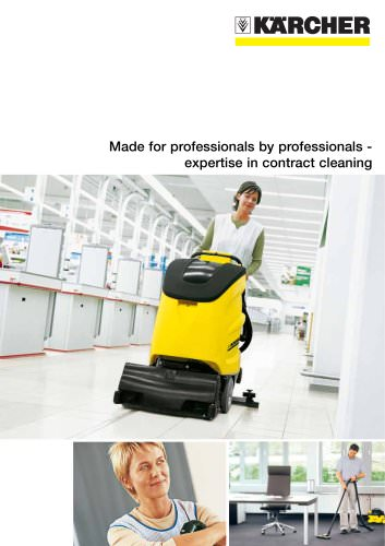 Made for professionals by professionals - expertise in contract cleaning