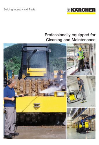 Professionally equipped for Cleaning and Maintenance