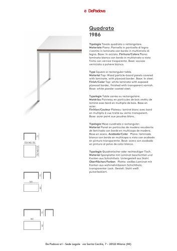 Tavolo De Padova Quadrato.Scrittarello Depadova Pdf Catalogs Documentation Brochures
