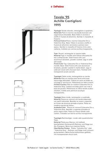 Tavolo De Padova Quadrato.Tavolo 95 Depadova Pdf Catalogs Documentation Brochures