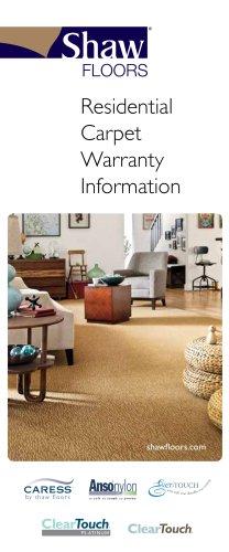 Residential Carpet Warranty Information