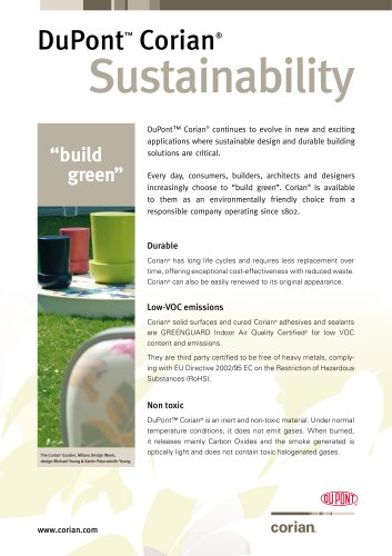 Corian in the Environment