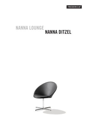 NANNA LOUNGE CHAIR, X-FRAME