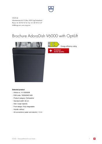 Brochure AdoraDish V6000 with OptiLift