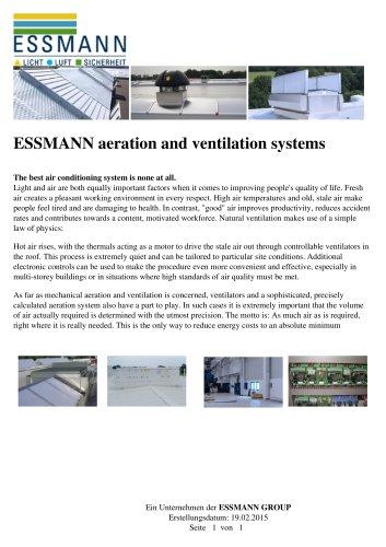 ESSMANN aeration and ventilation systems