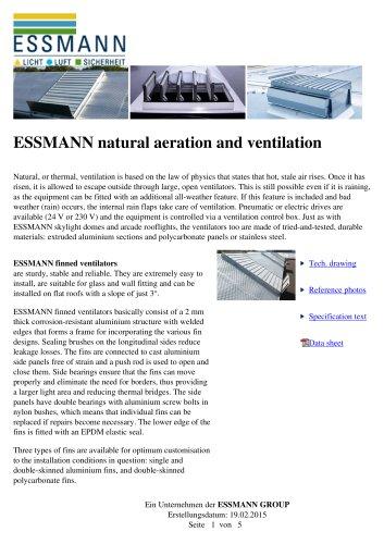 ESSMANN natural aeration and ventilation