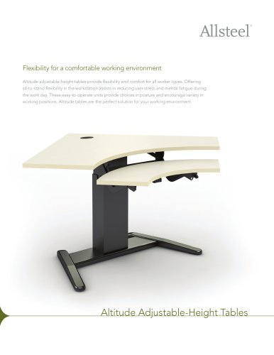 Altitude Adjustable-Height Tables Sell Sheet