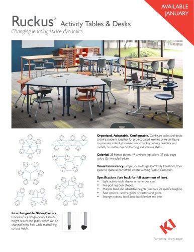 Ruckus® Activity Tables & Desks