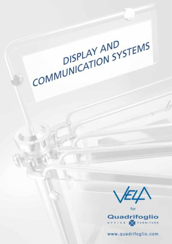 VELA CATALOGUE (DISPLAY AND  COMMUNICATION SYSTEMS)