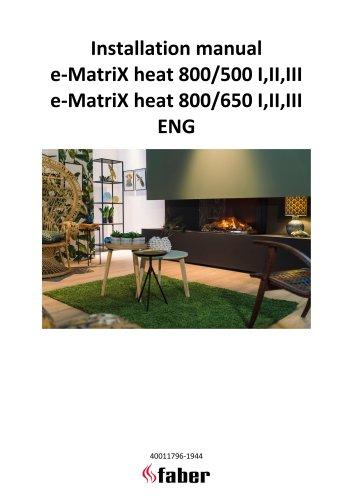 Installation manual e-MatriX