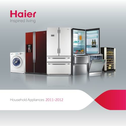 Haier UK White Goods Brochure 2011/2012