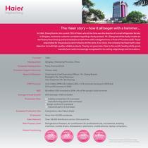 Haier UK White Goods Brochure 2011/2012 - 2