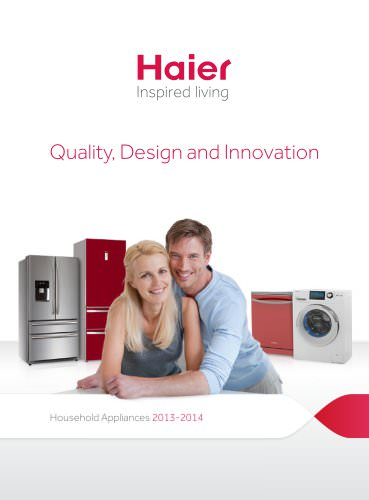 Haier UK White Goods Brochure 2013/2014