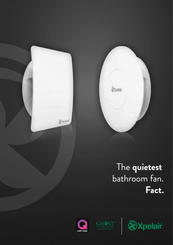The quietest bathroom fan