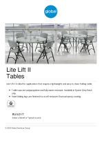 Lite Lift II Tables - 1