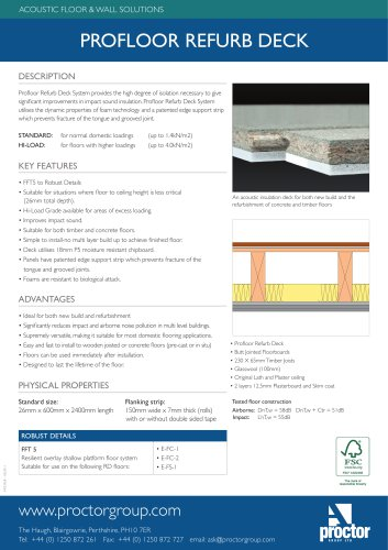 Profloor Refurb Deck