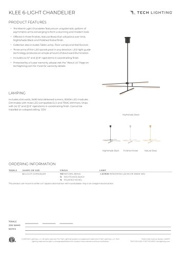 KLEE 6-LIGHT CHANDELIER