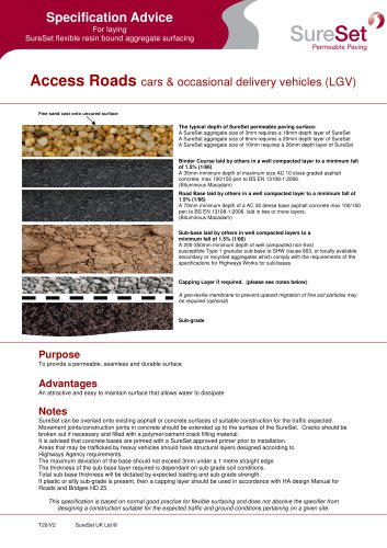 Access Roads Specifications