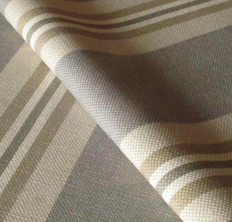 Tecido para cortina / às riscas / em algodão / em linho
