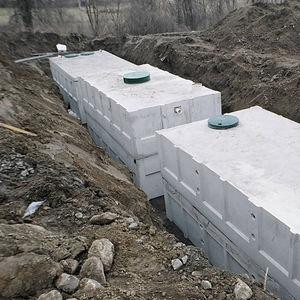 fossa séptica pré-fabricada / em concreto