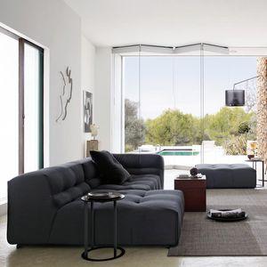 sofá modular / contemporâneo / em couro / em tecido