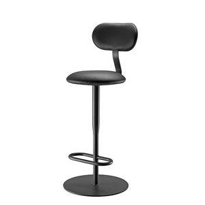 cadeira alta contemporânea / com apoio para pés / em tecido / em aço