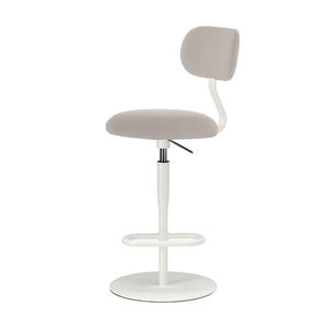 cadeira alta contemporânea / com apoio para pés / giratória / regulável
