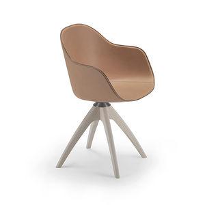 cadeira contemporânea / estofada / com braços / com base em estrela