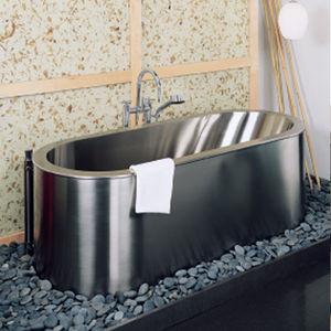 banheira freestanding / oval / em aço inoxidável