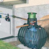 reservatório enterrado / de captação de águas pluviais
