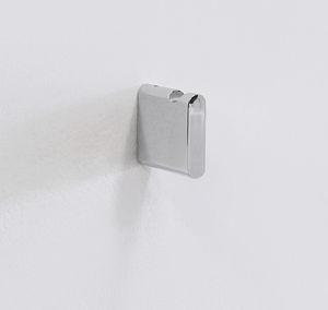 cabide de parede contemporâneo / em metal cromado / em latão / para banheiro