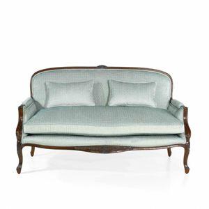 sofá de estilo francês / em tecido / em couro / em carvalho