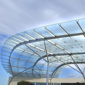 cobertura de vidro metálica