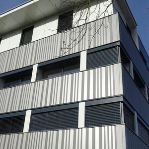 revestimento de fachada em réguas