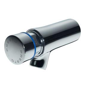 torneira simples para lavatório / de parede / em latão cromado / temporizada