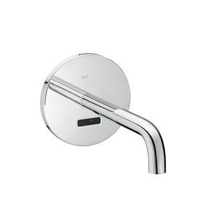 misturador monocomando para lavatório / de embutir / em metal cromado / eletrônico