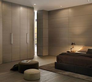 guarda-roupa contemporâneo / em madeira / com portas de abrir