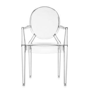 cadeira contemporânea / com braços / empilhável / medalhão