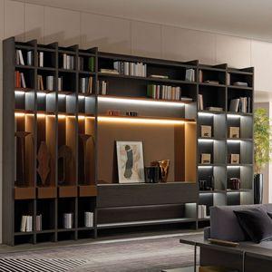 móvel de parede de sala contemporâneo