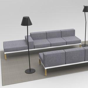 sofá modular / contemporâneo / em tecido / em carvalho